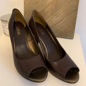 Kenneth Cole Reaction Open Toe Chunky Heels